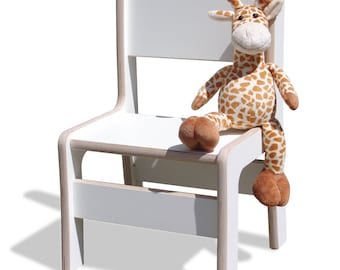 High Chair-unglaublich stabil-white - optionally with name milling!