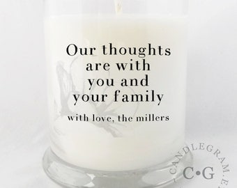 CandleGram 10oz Soy Candle....Sorry for your loss, sympathy.....