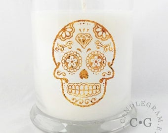CandleGram 10oz Soy Candle... Day of the Dead
