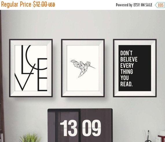 Flash Sale Black And White Print, Gallery, Valentines Gift, Minimalist  Print, Love Print, Office Decor, Printable Art Quotes, Digital Printa