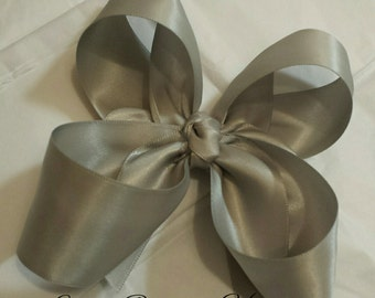 silver inside/out hairbow