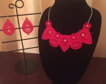 Embroidery jewelry set