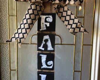 Fall sign, Fall decoration, Fall door hanging, Autumn door decor , wall hanging, wall decor,
