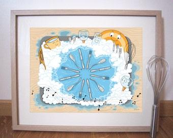 "Art print 40x30 cm ""Dance cutlery"""