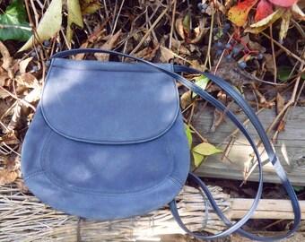 Leather crossbody bag, vintage crossbody, lavender handbag, blue clutch, suede bag, vintage handbag, vintage crossbody bag, leather clutch
