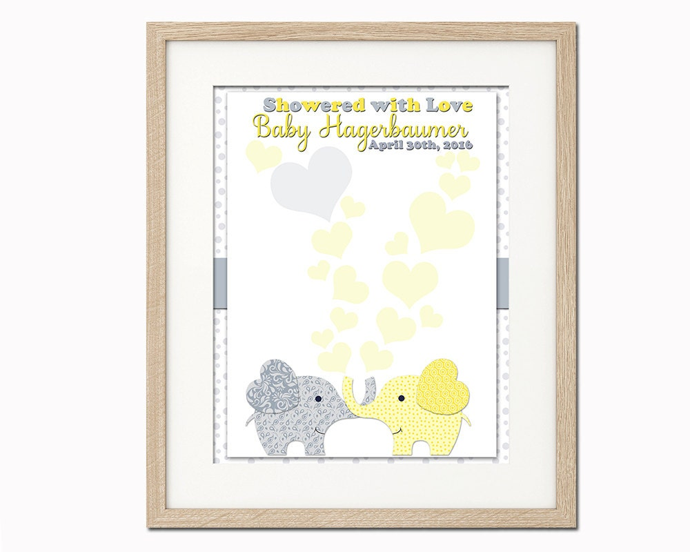 elephant alternative guest book baby shower by pinkrockprintables