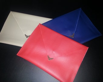 Handmade, Over-sized envelope clutch (large purse)