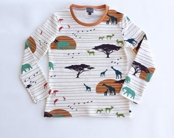 ORGANIC toddler shirt, organic kids shirt, organic kids clothing, organic toddler clothes, boys organic tee, safari tee, safari tshirt