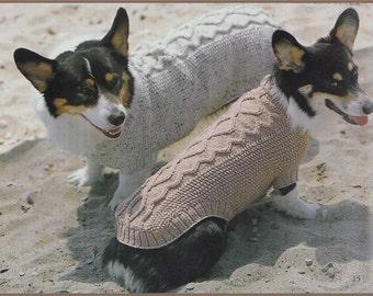 knitting dog coat patterns/xsm/smll/med/lge/extlge