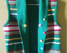 Ugly red green white Christmas Vest