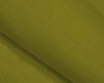 green linen fabric