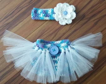 KnottedTutu diaper cover and Headband
