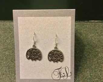 Sterling Silver Jump Rope Mom earrings