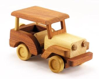 Handmade Wood Toy Jeep