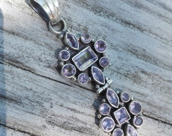 925 Silver Pendant and Amethyst