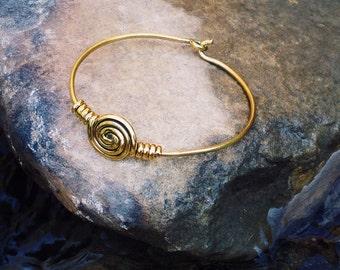 """Bracelet """"Circle"""" brass"""