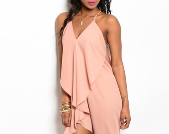 Flowy Peach Dress