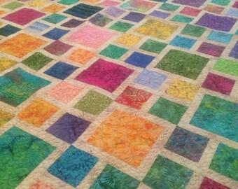 Batik Jewels Handmade Quilt