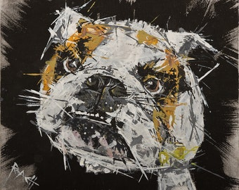 Great British Bulldog Print ... 'Gary'