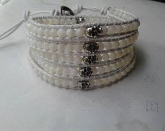skull pearl cuff bracelet wrap chan luu inspiration