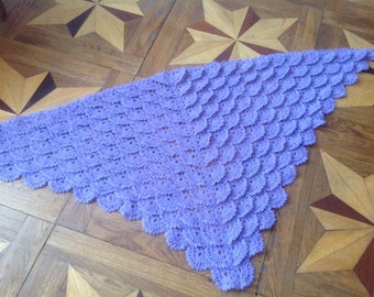 Hand knit Shawl for Woman