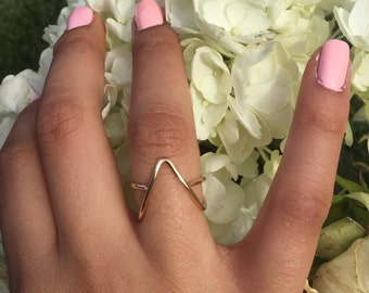 Triangle ring, Star Ring, Geometrical ring, Stackable ring, Simple Ring, Dainty ring