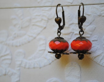 Orange earrings farting