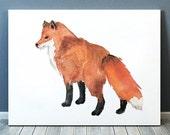 Animal art Watercolor fox print Nursery decor ACW43