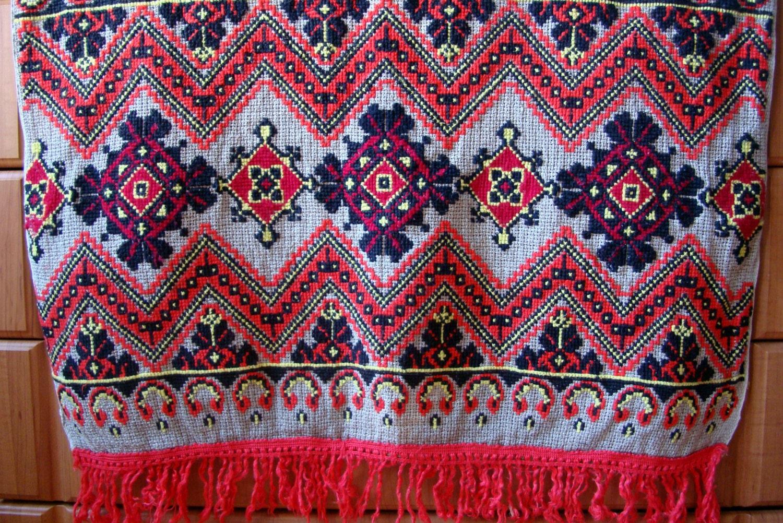 Vintage ukrainian embroidery hand old