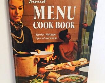 1969 Vintage Sunset Menu Cookbook by Lane Magazine