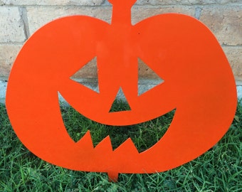 Halloween Pumpkin, Lawn Decor, Halloween Lawn Decor, Jack O' Lantern, Metal Pumpkin, Outside Pumpkin, Garden Decor, Halloween Decor