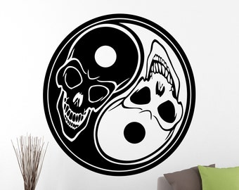Yin yang decals etsy for Decoration murale yin yang