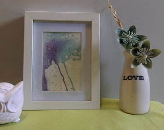 Ink Water Fall Framed