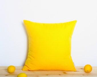Lemon Yellow Pillow Cover
