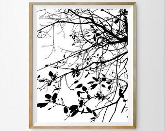 Contemporary art decor Black minimalist art Black wall art print Black printable art Black wall art decor Black modern wall art