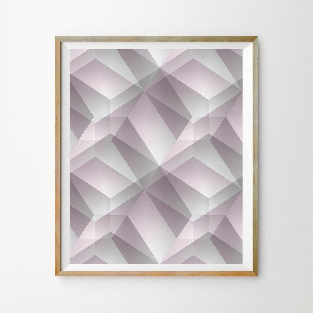 Geometric Wall Art Print Scandinavian Wall Art Print