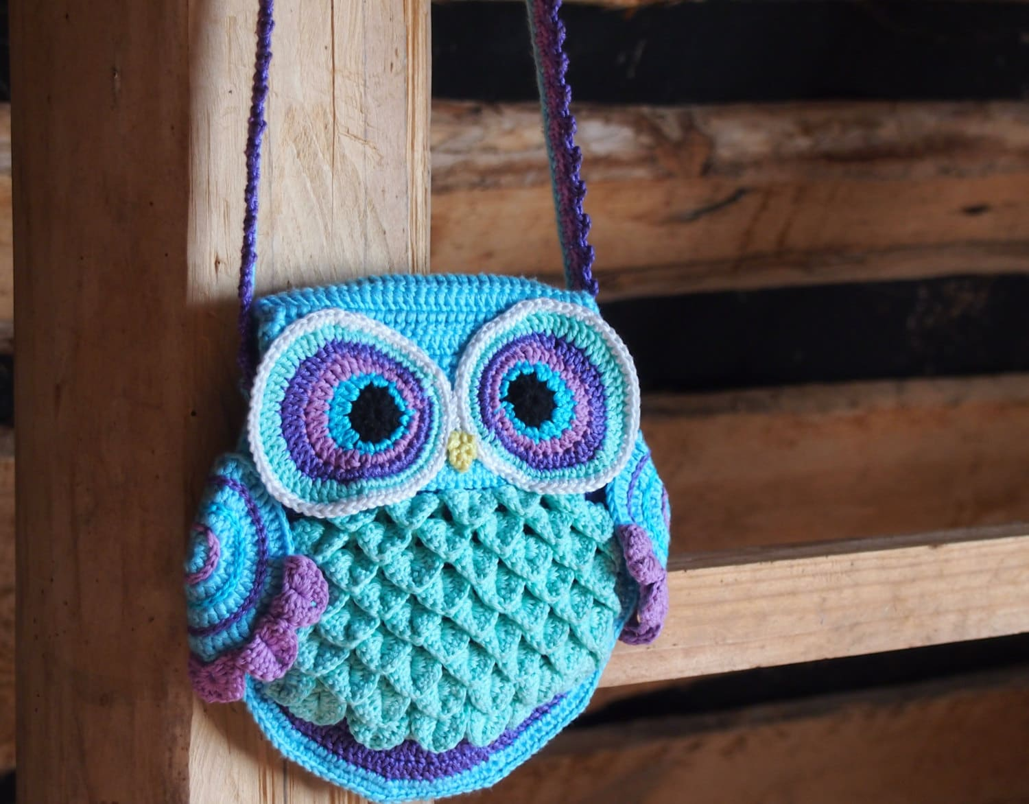 Crochet Purses And Bags Tutorials : Crochet bag pattern crochet owl pattern by ColorfulEasyCrochet