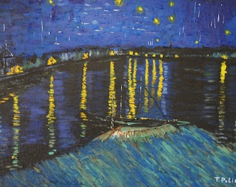 "The ""starry night over the Rhone"" by Vincent Van Gogh"