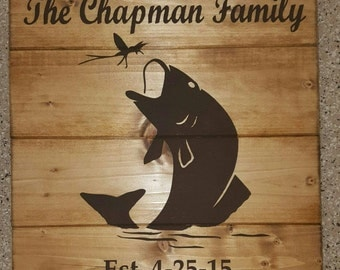 Fishing Personalized Wood Sign