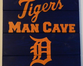 Tigers Man Cave Wood Sign
