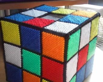 Rubix Cube Tissue Box -Made per order