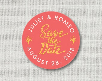 Save the Date Wedding Stickers, Wedding Envelope Label, Save the Date Stickers