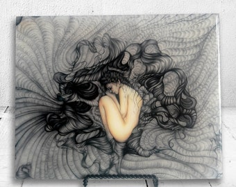 Embraced - Print mounted on wood