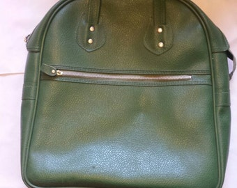 Cosmetic/hair roller/toiletry bag purse in green
