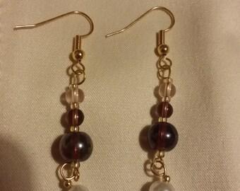 Handmade earrings! 'Royal Purple'