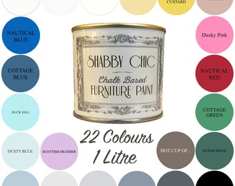 Shabby Chic Chalk Paint 1 Litre Choice of 22 Colours