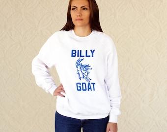 Vintage Billy Goat Raglan Novelty Sweatshirt  Women's M/L, Men's S