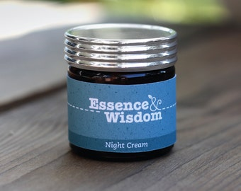 Night Cream ~ blended using Aromatherapy oils of French Cypress, Lavender and Patchouli. 100ml