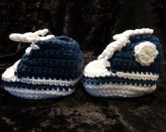 Baby sneakers crochet 3-6 mths