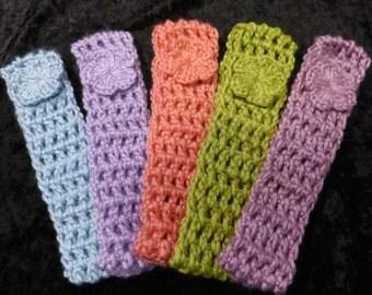 Girls Headband crochet 3-5 yrs set of 5